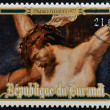BURUNDI - CIRCA 1977: Stamp printed in Burundi shows Christ crucified by Peter Paul Rubens, easter, circa 1977 — Stock Photo #21829955