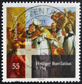 GERMANY - CIRCA 2004: A stamp printed in Germany shows Saint Boniface, circa 2004 — Stock Photo