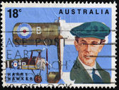 AUSTRALIA - CIRCA 1978: A stamp printed in Australia shows Harry Hawker, circa 1978 — Stock Photo