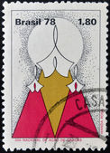 BRAZIL - CIRCA 1978: A stamp printed in Brazil dedicated to national day of thanksgiving, circa 1978 — Stock Photo