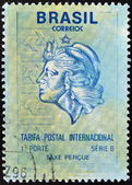 BRAZIL - CIRCA 1994: A stamp printed in Brazil shows allegory of woman, circa 1994 — Stock Photo