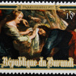 Stock Photo: BURUNDI - CIRC1977: Stamp printed in Burundi shows Ascent of Calvary by Peter Paul Rubens, easter, circ1977