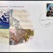 CANADA - CIRCA 2006: A stamp printed in Canada shows James White and atlas of Canada, circa 2006 — Photo
