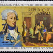 Foto Stock: CHAD - CIRC1976: stamp printed in Chad, shows lafayette, circ1976