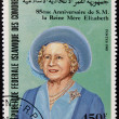 COMORES - CIRCA 1985: A stamp printed in Comores shows Her Majesty the Queen Mother Elizabeth of England, circa 1985 — Stock Photo