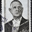 FRANCE - CIRCA 1971: A stamp printed in France shows General de Gaulle, circa 1971. — Stock Photo