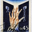 Stock Photo: FRANCE - CIRC1970: stamp printed in France dedicated to liberation of Nazi concentration camps, circ1970