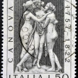 ITALY - CIRCA 1972: stamp printed in Italy shows The three graces by Antonio Canova, circa 1972 - Stock Photo