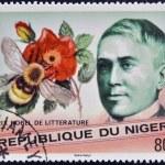 NIGER - CIRCA 1977: A stamp printed in Niger shows Nobel Prize in Literature, Maurice Maeterlinck, circa 1977 — Stock Photo
