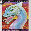 NEW ZEALAND - CIRCA 2000: A stamp printed in New Zealand shows Tuhirangi, south island sea guardian, circa  2000 - Stock Photo