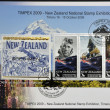 NEW ZEALAND - CIRCA 2009: stamps printed in New Zealand shows Sir Edmund Percival Hillary, first person to climb Everest, circa 2009 - Stock Photo