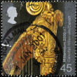 UNITED KINGDOM - CIRCA 2000: A stamp printed in Great Britain shows Top of Harp (Canolfan Mileniwm, Cardiff), circa 2000 - Stock Photo