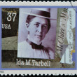 UNITED STATES OF AMERICA - CIRCA 2002: A stamp printed in USA dedicated to Women in Journalism, shows Ida M. Tarbell, circa 2002 — Stock Photo