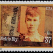 UNITED STATES OF AMERICA - CIRCA 2002: A stamp printed in USA dedicated to Women in Journalism, shows Nellie Bly, circa 2002 — Stock Photo