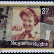 UNITED STATES OF AMERICA - CIRCA 2002: A stamp printed in USA dedicated to Women in Journalism, shows Marguerite Higgins, circa 2002 — Stock Photo