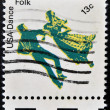 UNITED STATES OF AMERICA - CIRCA 1978: Stamp printed in USA shows American dance, folk, circa 1978  — Stock Photo