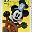 Royalty-Free Stock Photo: UNITED STATES OF AMERICA - CIRCA 2008: A stamp printed in USA shows Mickey Mouse, circa 2008