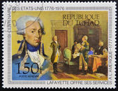 CHAD - CIRCA 1976: A stamp printed in Chad, shows lafayette, circa 1976 — Stock Photo