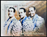 CUBA - CIRCA 2007: A stamp printed in Cuba dedicated to authors and singers of the Son, shows the Trio Matamoros, circa 2007 — Stock Photo