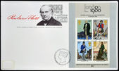 UNITED KINGDOM - CIRCA 1979: Stamps printed in Great Britain dedicated to Sir Rowland Hill, circa 1979 — Stock fotografie