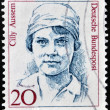 FEDERAL REPUBLIC OF GERMANY - CIRCA 1988: A stamp printed in Germany shows Cilly Aussem, circa 1988. — Stock Photo