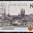 GERMANY - CIRCA 1989: A stamp printed in Germany dedicated to the 2000th anniversary of Bonn and the 40th anniversary of the capital West Germany, circa 1989 — Stock Photo