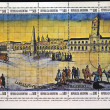 ARGENTINA - CIRCA 1980: Stamps printed in Argentina shows image of Buenos Aires in 1580, the Victory Square and Cabildo, circa 1980 — Stock Photo