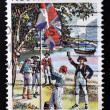 Stockfoto: AUSTRALI- CIRC1979: stamp printed in Australidedicated to AustraliDay, circ1979