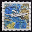 BRAZIL - CIRCA 1978: A stamp printed in Brazil dedicated to Savoia - Marchetti SM.82, circa 1978 — Stock Photo