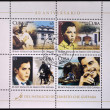 CUBA - CIRCA 2008: Stamps printed in Cuba dedicated to 80th anniversary of the birth of Ernesto Che Guevara, circa 2008 - Stok fotoğraf