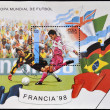 CUBA - CIRCA 1998: A stamp printed in cuba dedicated to Football World Cup France 98, circa 1998 — Stock Photo