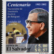 EL SALVADOR - CIRCA 2002: stamp printed in El Salvador shows image of Saint Josemaria Escriva de Balaguer was a Roman Catholic priest from Spain who founded Opus Dei, circa 2002 — Stock Photo #22445721