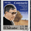 EL SALVADOR - CIRCA 2002:  stamp printed in El Salvador shows image of Saint Josemaria Escriva de Balaguer was a Roman Catholic priest from Spain who founded Opus Dei, circa 2002 - Stock Photo