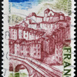 FRANCE - CIRCA 1976: A stamp printed in France, shows image of Thiers village, circa 1976 — Stock Photo