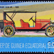 EQUATORIAL GUINEA - CIRCA 1974: A stamp printed in Guinea dedicated to vintage cars, shows Ceirano 15 20 Hp, 1920, circa 1974 - Stock Photo
