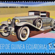 EQUATORIAL GUINEA - CIRCA 1974: A stamp printed in Guinea dedicated to vintage cars, shows Duesemberg model J, 1929, circa 1974 - Stock Photo