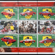 GUINEA - CIRCA 1988: Stamps printed in Guinea dedicated to anniversary of Enzo Ferrari, circa 1988 - Stock Photo