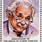 AITUTAKI (ARAURA), CIRCA 1980: stamp printed in Cook Islands in honor of Mathematician Physicist Nobel Prize Winner Albert Einstein, circa 1980 — Stock Photo