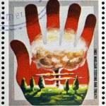 AITUTAKI (ARAURA), CIRCA 1980: stamp printed in Cook Islands in honor of Mathematician Physicist Nobel Prize Winner Albert Einstein, circa 1980 — Stock Photo #22446975