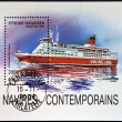 MADAGASCAR - CIRCA 1994: stamp printed in Madagascar shows Finnish car-ferry, viking line, circa 1994 — Stok fotoğraf