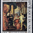 "Stock Photo: REPUBLIC NIGER - CIRC1978: stamp printed in Niger shows draw by Peter Paul Rubens ""History of Marie de' Medici"", circ1978"