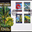 NEW ZEALAND - CIRCA 2000: Stamps printed in New Zealand dedicated to spirits and guardians, maori legends, circa 2000 — Stock Photo #22447331