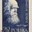 Stock Photo: POLAND - CIRC1959: stamp printed in Poland shows Charles Darwin (1809-1882), circ1959