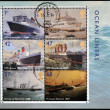 Royalty-Free Stock Photo: UNITED KINGDOM - CIRCA 2004: Collection stamps printed in Great Britain dedicated to ocean liners, circa 2004