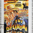 Stock Photo: SAO TOME AND PRINCIPE - CIRCA 1995: A stamp printed in Sao Tome shows movie poster The oklahoma kid, circa 1995