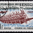SENEGAL - CIRCA 1961: stamp printed in Senegal shows Pirogues racing, circa 1961 — Stock Photo
