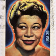 UNITED STATES OF AMERICA - CIRCA 2007: A stamp printed in USA shows Ella Fitzgerald, black heritage, circa 2007 — Stock Photo