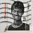 Stock Photo: UNITED STATES OF AMERIC- CIRC2004: stamp printed in USshows image of WilmRudolph, circ2004