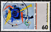 GERMANY - CIRCA 1989: stamp printed in Germany, shows Bluxao I by Willi Baumeister, circa 1989 — Stock Photo