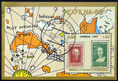 CUBA - CIRCA 1985: Stamp printed in Cuba in honor of Latin American philately, circa 1985 — Foto de Stock